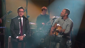 Stephen Colbert Got To Sing One Of His Favorite Songs With Jack Johnson, And He Was Thrilled
