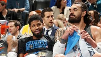 Paul George Lovingly Says Steven Adams Is A Big Man Who Enjoys Starting Trouble