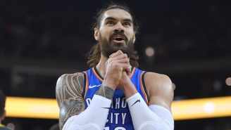 Steven Adams Perfectly Executed A Missed Free Throw Against The Spurs