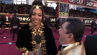 Tiffany Haddish Interrupted Her Red Carpet Chat With Jimmy Kimmel's Sidekick To Chase Down Meryl Streep