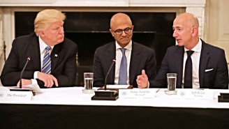 Trump Is Reportedly 'Obsessed' With Taking Down Amazon, But Doesn't Care About Facebook's Troubles