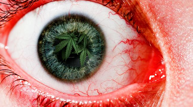 fake weed bleeding eyes