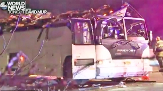 A Bus Has Struck A Highway Overpass In Long Island, Injuring At Least 40 People