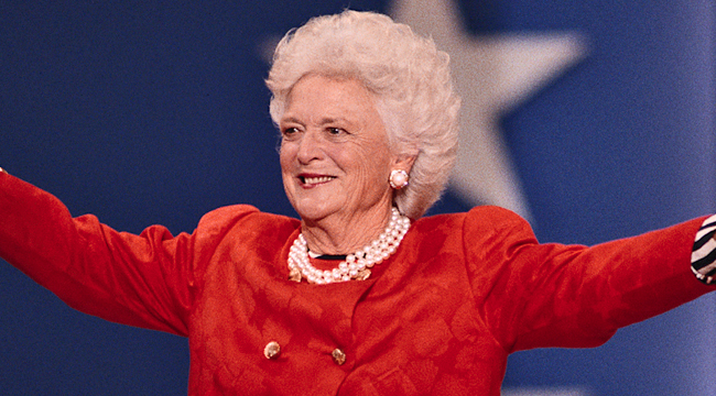 Former First Lady Barbara Bush At The 1992 Republican National Convention