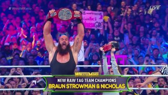 Braun Strowman Won The Raw Tag Team Championship With An Actual Child