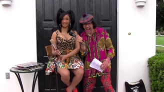 Watch Cardi B Get A Lot Of Stripper-Themed Gifts From Nardwuar During Their Coachella Interview