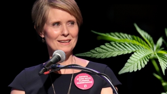 Cynthia Nixon 'Pumped Her Fist And Said Yes' When Asked About Legalizing Weed In New York