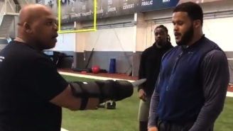 Aaron Donald Is The NFL's Best Defender Because He Practices Against A Man Wielding Knives