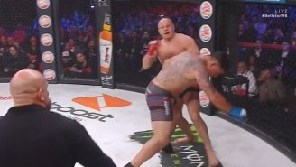 Fedor Knocks Out Frank Mir In A Furious 50-Second Bellator Battle