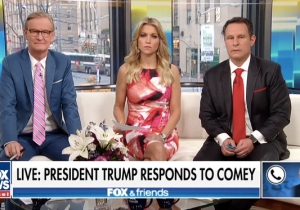 Trump Went On An Unhinged Rant Over Comey And The Moscow Hotel Room, And 'Fox And Friends' Hosts Froze