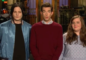 John Mulaney And Jack White Riff With Aidy Bryant In The Latest 'SNL' Promo