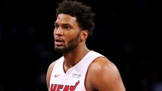 Justise Winslow Stepped On Joel Embiid's New Goggles During Game 3 Of Heat-Sixers