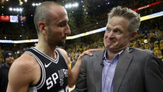Steve Kerr Told Manu Ginobili To 'Keep Playing' During A Postgame Embrace