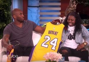 Kobe Bryant Dropped By 'Ellen' To Surprise Notre Dame Hero Arike Ogunbowale