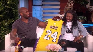 Kobe Bryant Dropped By 'Ellen' To Surprise Notre Dame Hero Arike Ogunbowale