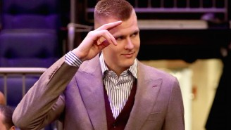 Kristaps Porzingis Is Sick And Tired Of Picking Out Suits To Wear On The Sidelines