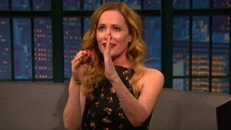If You Want To, You Can Watch Leslie Mann Describe John Cena's Butt To Seth Meyers