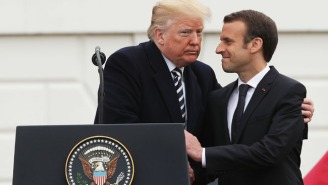 Trump Brushed A 'Little Piece Of Dandruff' Off Of French President Emmanuel Macron