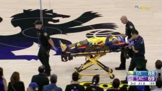 Golden State's Patrick McCaw Got Carted Off After Landing Hard On His Back