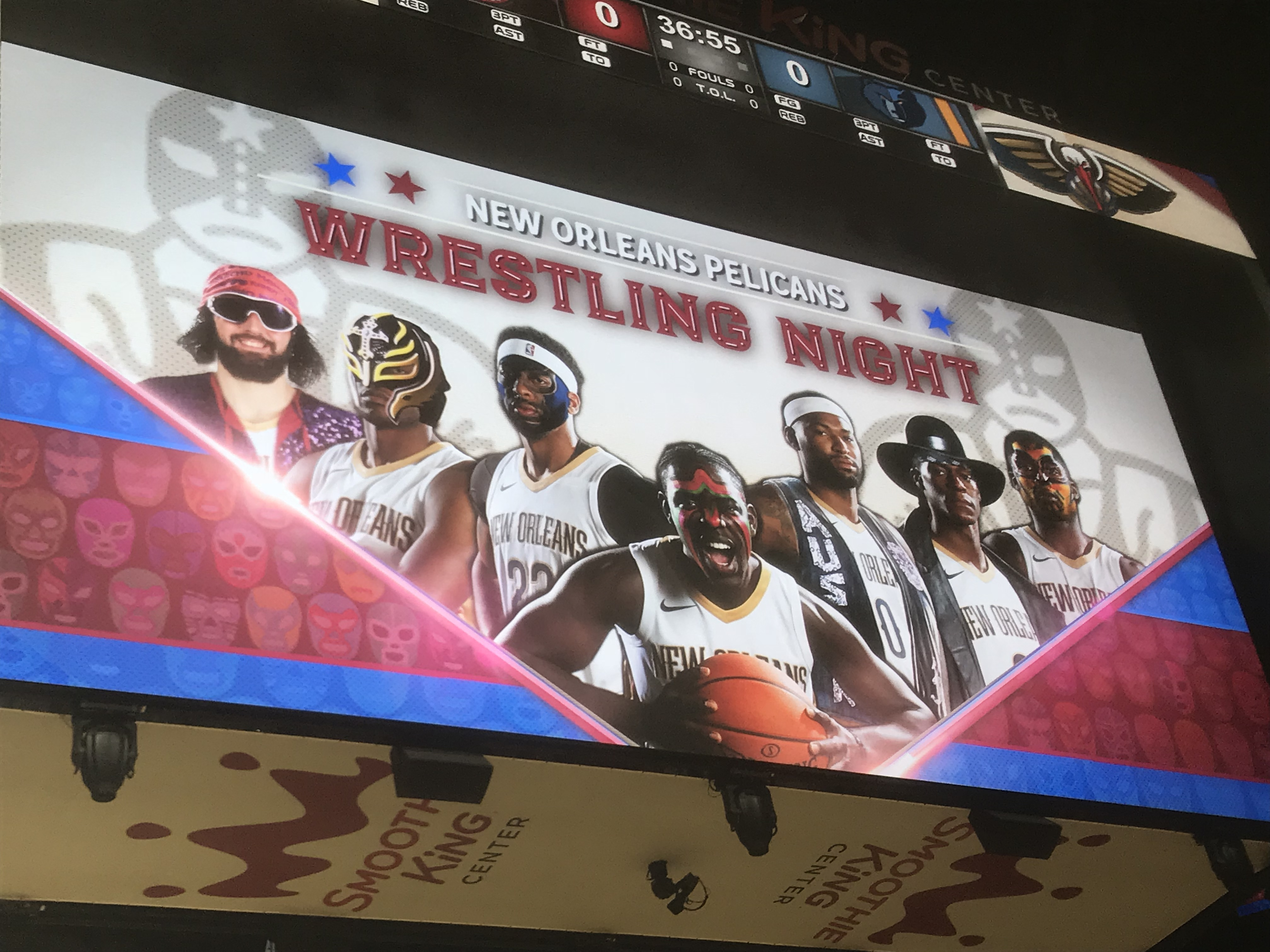 The New Orleans Pelicans Completely Botched Wrestling Night