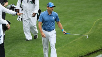 Sergio Garcia Went Full 'Tin Cup' At The Masters Hitting Five In The Water To Make A 13