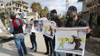 A Suspected Syria Gas Attack Upon Civilians Has Killed At Least 70 People