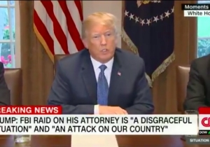Donald Trump Calls The FBI's Raid On Lawyer Michael Cohen's Office 'A Disgrace'