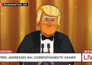 Colbert's 'Our Cartoon President' Popped By The White House Correspondents' Dinner