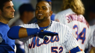 Yoenis Cespedes' Necklace Broke After A Double And Diamonds Were Everywhere