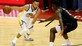 Clint Capela Wasn't Particularly Impressed With Stephen Curry's Game 3 Explosion