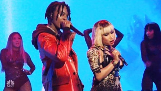 Nicki Minaj Was Joined By Playboi Carti On 'SNL' For A Bouncy Performance Of 'Poke It Out'