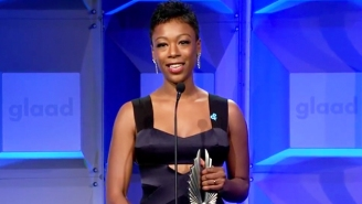Samira Wiley Sends A Message To Struggling Youth At The GLAAD Media Awards: 'You Are Loved'