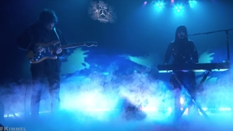 Beach House Gives An Eye-Opening Performance Of 'Drunk In LA' On 'Jimmy Kimmel Live'