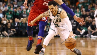 Shane Larkin Left Game 4 With A Shoulder Injury After A Hard Joel Embiid Screen