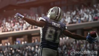 Terrell Owens Is A Cowboy Again On The Hall Of Fame Edition Of 'Madden NFL 19'