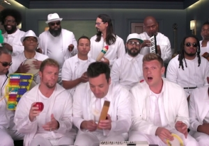 The Backstreet Boys Join Jimmy Fallon For A Classroom Instruments Version Of 'I Want It That Way'