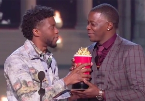 Chadwick Boseman Delivered His MTV Movie Award For 'Black Panther' To Waffle House Shooting Hero James Shaw Jr