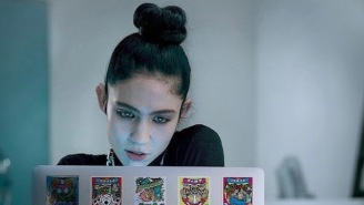 Grimes Debuted Her New Track, 'That's What The Drugs Are For,' In An Apple Mac Commercial