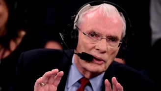Game 4 Got Off To A Terrible Start As ESPN Analyst Hubie Brown Hurt His Knee