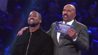 Yes, Kanye West Had The Time Of His Life On 'Family Feud' With The Kardashians