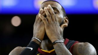 The Video Of LeBron James Learning The Cavs Had A Timeout Left In Game 1 Is Gutting
