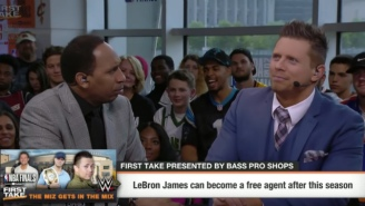 Stephen A. Smith And The Miz Sparring On 'First Take' Was As Entertaining As You'd Imagine