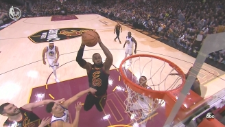 LeBron James Threw Himself An Off-The-Backboard Alley-Oop Early In Game 3
