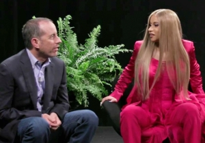 Zach Galifianakis Brings Back 'Between Two Ferns' For A Painfully Awkward Jerry Seinfeld And Cardi B Meeting