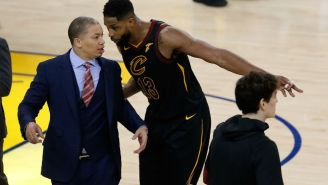 The NBA Fined Tristan Thompson $25,000 For His Actions At The End Of Game 1