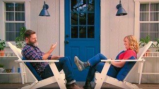Amy Poehler And Nick Offerman's 'Pun-Off' To Promote 'Making It' Is To Dye For
