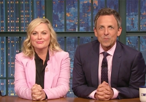 Seth Meyers Re-Teams With Amy Poehler To Address Former FBI Director James Comey's Plea To Democrats
