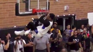 DeMar DeRozan Threw Himself An Off-The-Backboard Alley-Oop At The Drew League
