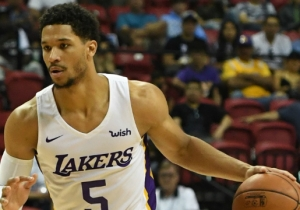 Lakers Guard Josh Hart Wore A Cleveland Browns Onesie After Losing A Bet