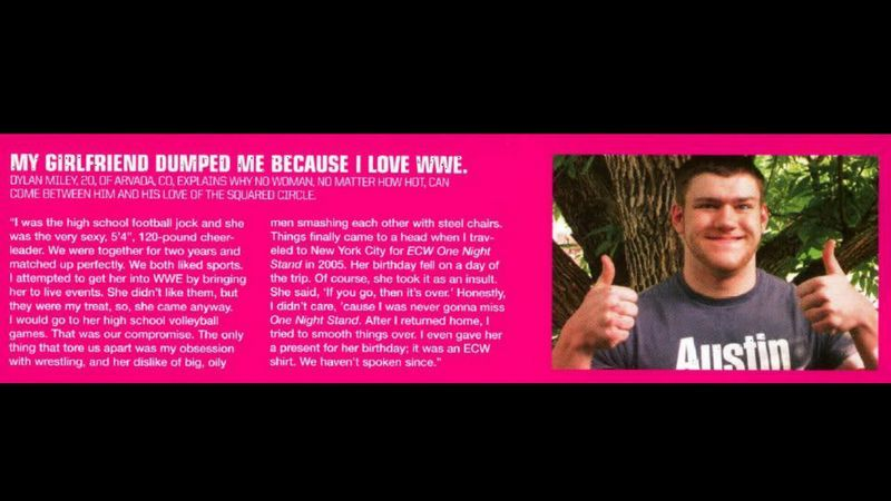 Lars Sullivan Wrote Into WWE Magazine About HIs Breakup Over ECW